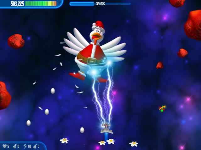 chicken invaders 3 christmas edition screenshots 1