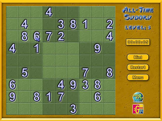 all-time sudoku screenshots 1