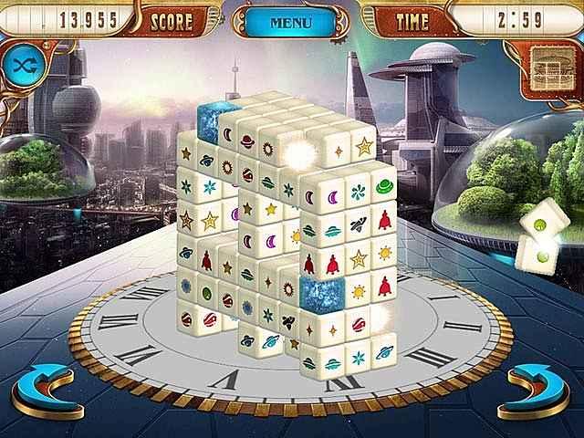 mahjongg dimensions deluxe: tiles in time screenshots 1
