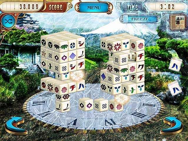 mahjongg dimensions deluxe: tiles in time screenshots 3
