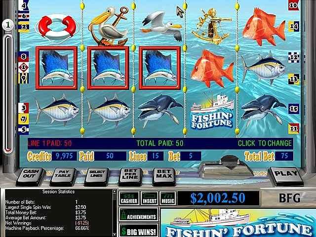 reel deal slots: fishin'fortune screenshots 1