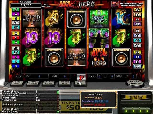 epic slots: rock hero screenshots 1