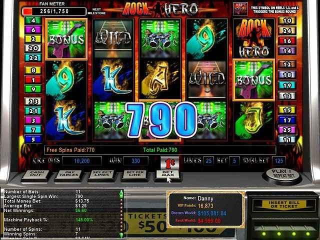 epic slots: rock hero screenshots 3