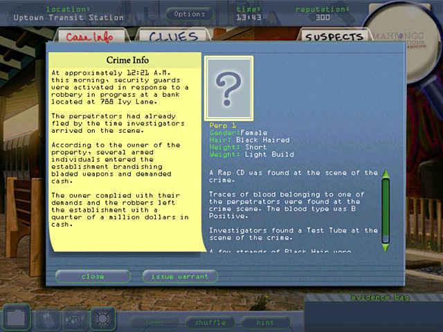 mahjongg investigation - under suspicion screenshots 2