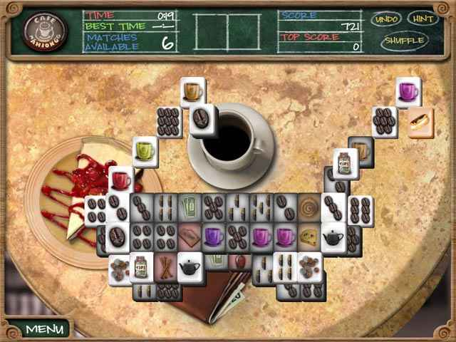 cafe mahjongg screenshots 1