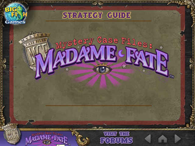 mystery case files: madame fate strategy guide screenshots 1