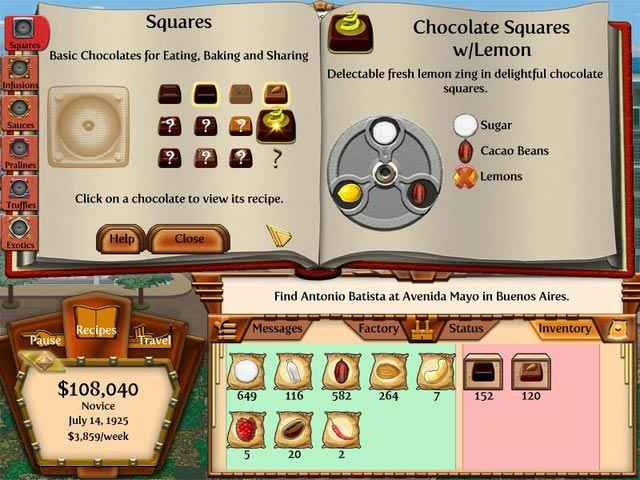 chocolatier 2: secret ingredients screenshots 2