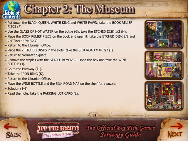 off the record: the italian affair strategy guide screenshots 3