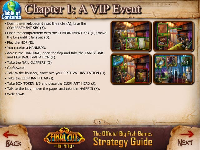 final cut: fame fatale strategy guide screenshots 10