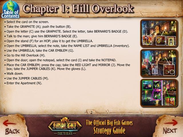 final cut: fade to black strategy guide screenshots 1