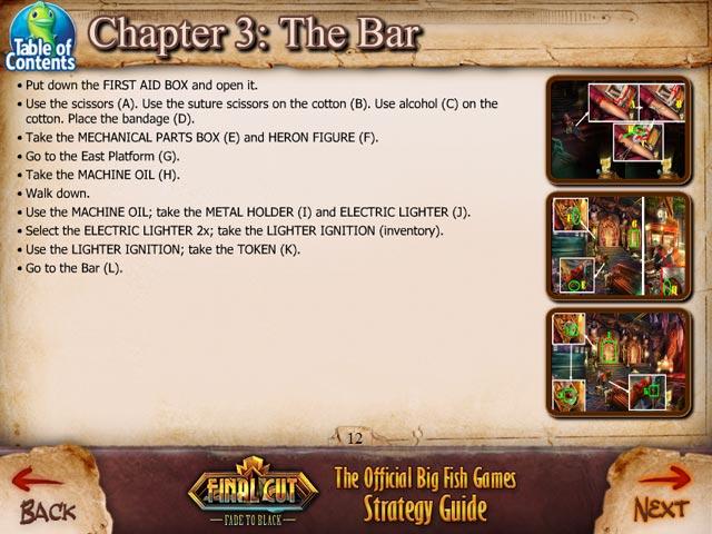 final cut: fade to black strategy guide screenshots 3