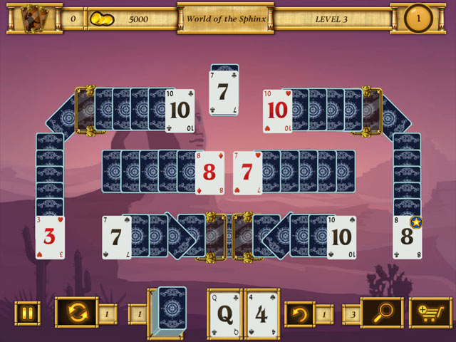 egypt solitaire match 2 cards screenshots 1