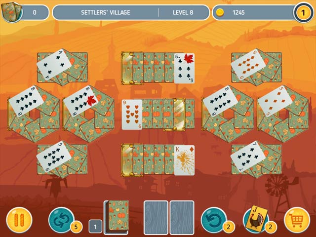 solitaire match 2 cards thanksgiving day screenshots 1