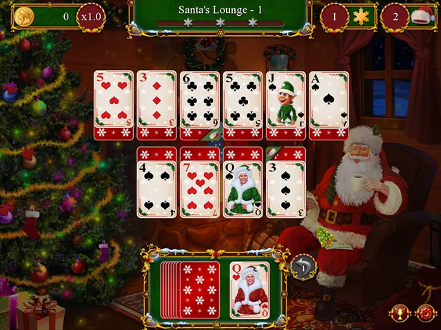 santa's christmas solitaire screenshots 1