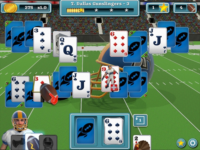 touch down football solitaire screenshots 1