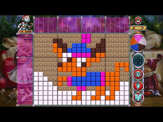 rainbow mosaics 10: christmas helper screenshots 1