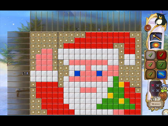fantasy mosaics 32: santa's hut screenshots 4
