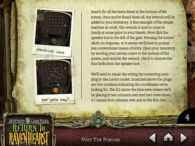 mystery case files: return to ravenhearst strategy guide screenshots 1