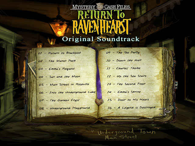 mystery case files: return to ravenhearst original soundtrack screenshots 1