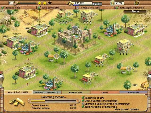 empire builder - ancient egypt screenshots 1