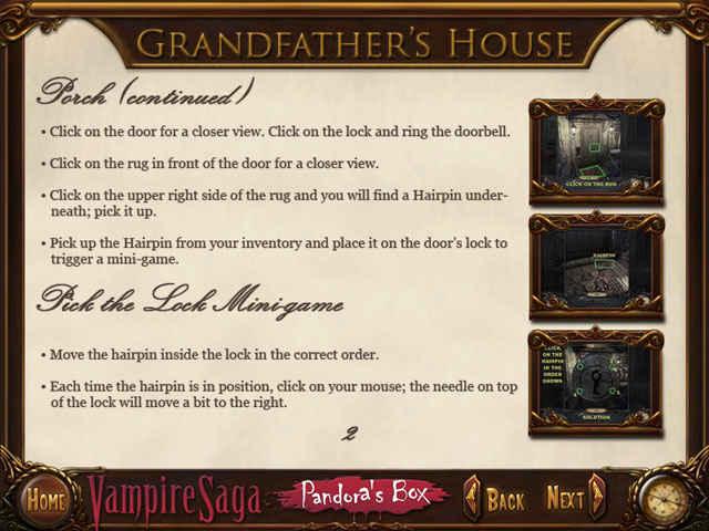 vampire saga: pandora's box strategy guide screenshots 2