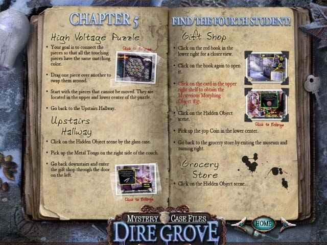 mystery case files: dire grove strategy guide screenshots 1