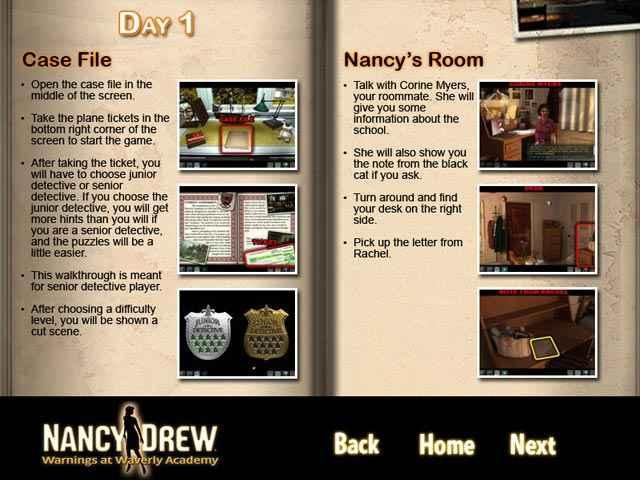 nancy drew: warnings at waverly academy strategy guide screenshots 1