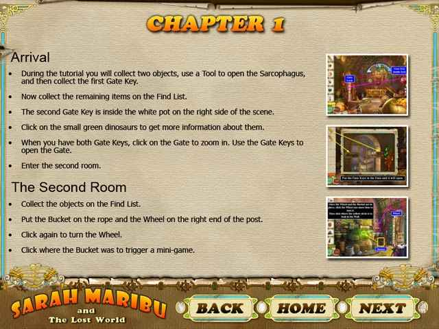 sarah maribu and the lost world strategy guide screenshots 1