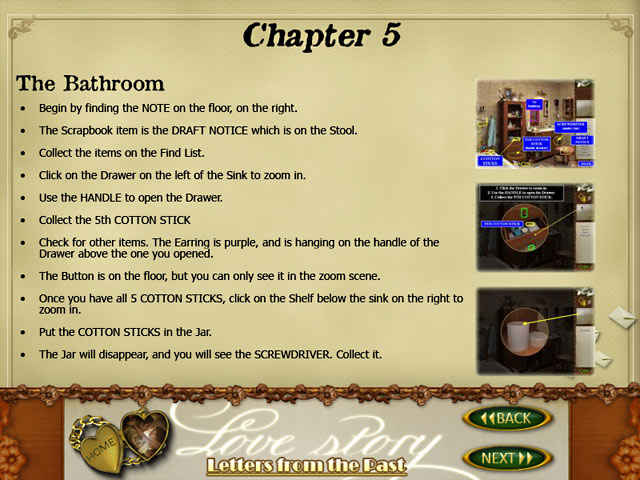 love story: letters from the past strategy guide screenshots 1
