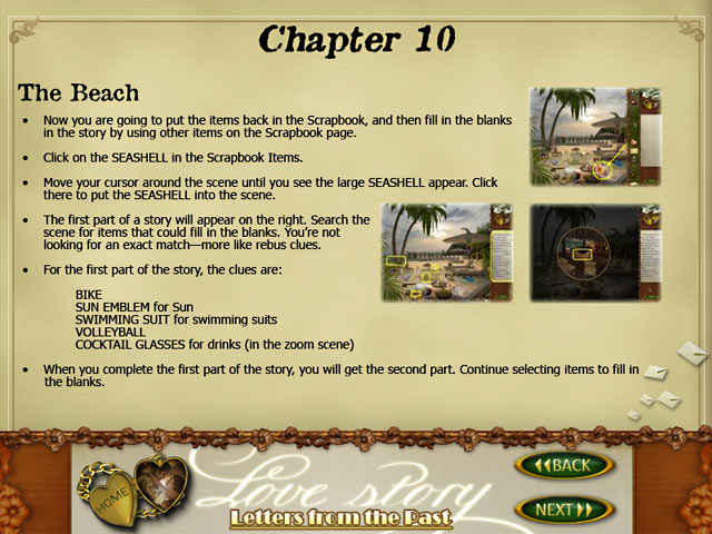 love story: letters from the past strategy guide screenshots 3