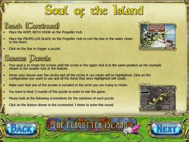secret mission: the forgotten island strategy guide screenshots 1