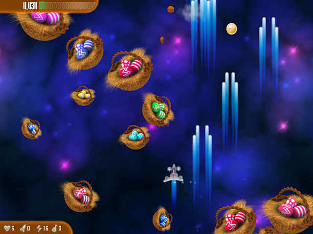 chicken invaders 3: revenge of the yolk easter edition screenshots 1