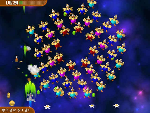 chicken invaders 3: revenge of the yolk easter edition screenshots 2