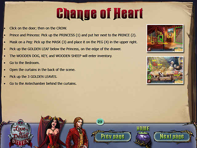 love & death: bitten strategy guide screenshots 1