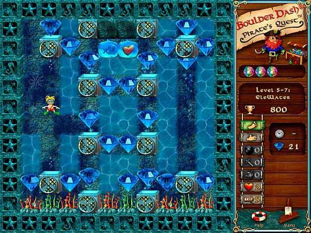 boulder dash: pirate's quest screenshots 1