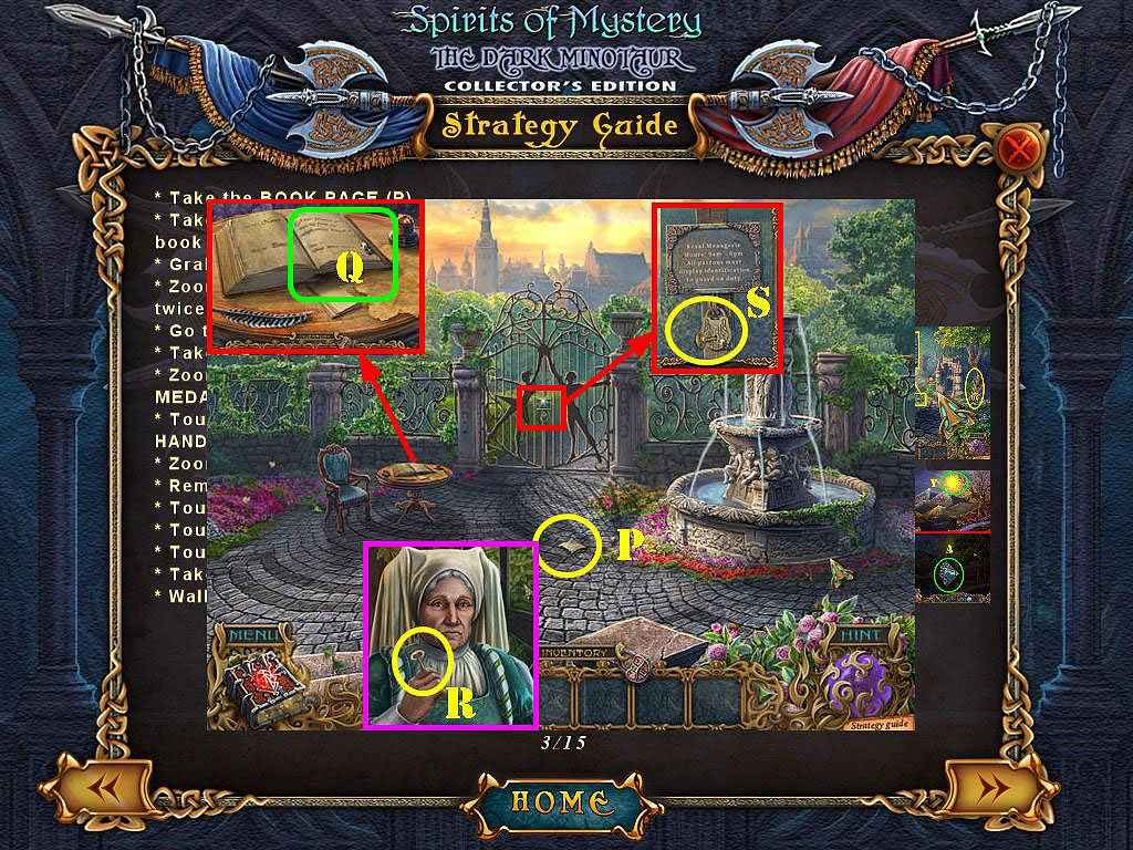 spirits of mystery: the dark minotaur collector's edition walkthrough