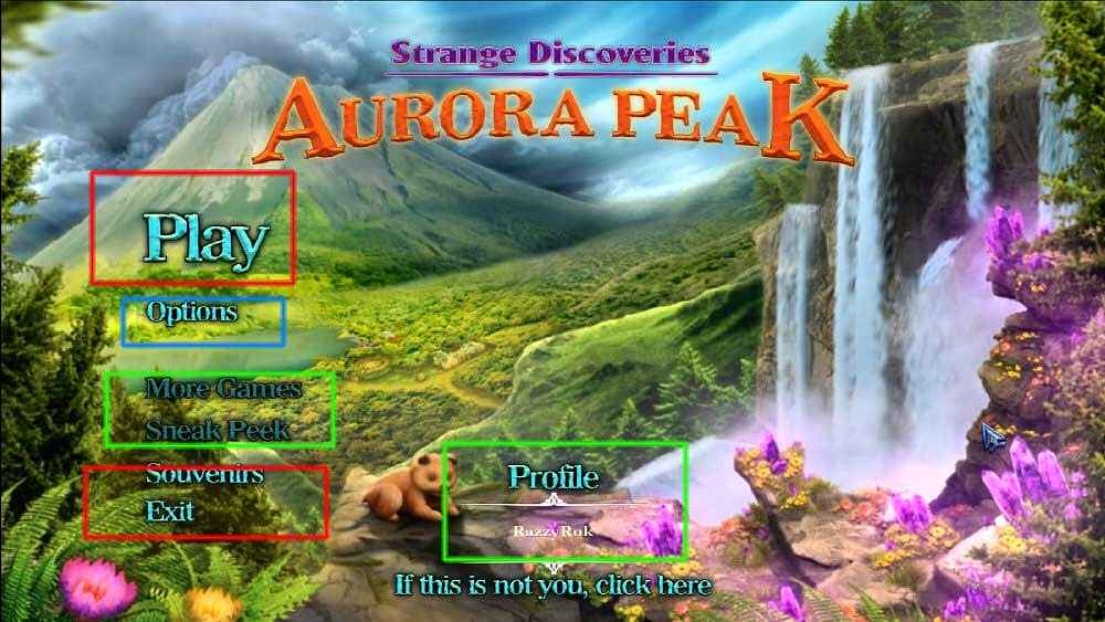 strange discoveries: aurora peak collector's edition walkthrough screenshots 2