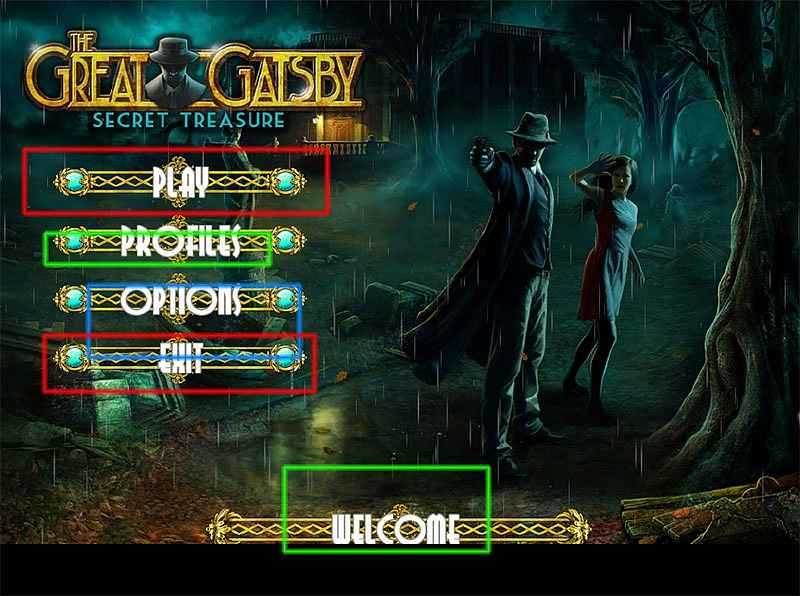 the great gatsby: secret treasure walkthrough
