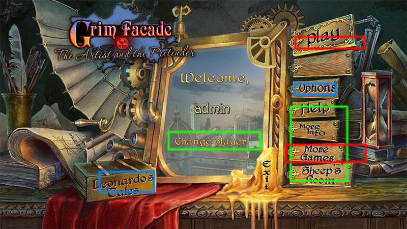 grim facade: the artist and the pretender collector's edition walkthrough screenshots 1
