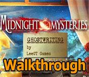 midnight mysteries: ghostwriting collector's edition walkthrough
