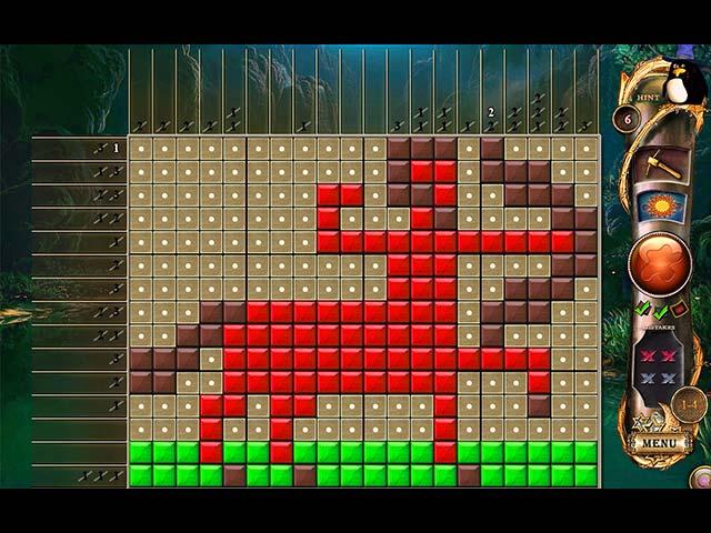 fantasy mosaics 11: fleeing from dinosaurs screenshots 1