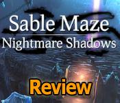 Sable Maze: Nightmare Shadows Review