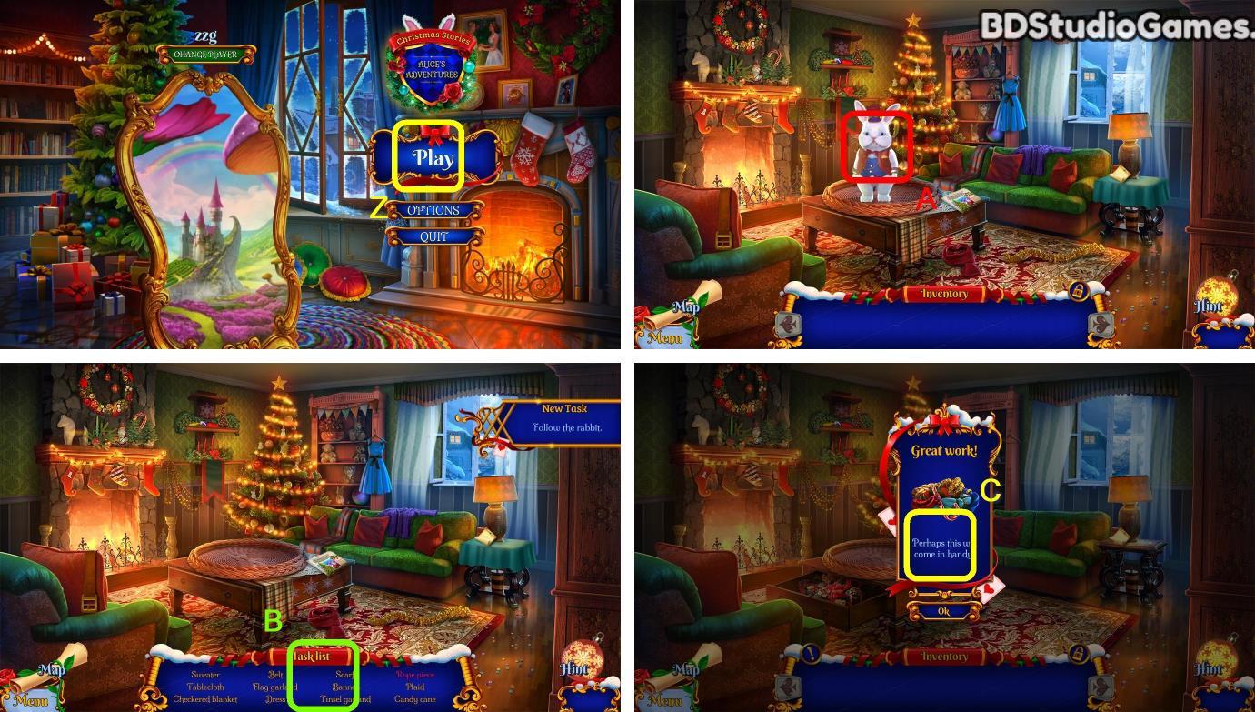 Christmas Stories: Alices Adventures Beta Version Walkthrough